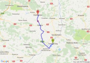 Trasa Tarnobrzeg - Ostrowiec Świętokrzyski