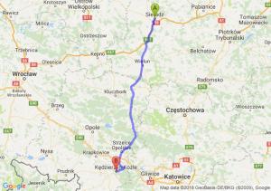 Trasa Sieradz - Kędzierzyn-Koźle