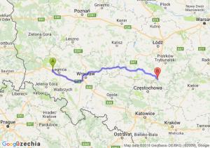 Trasa Chojnów - Radomsko