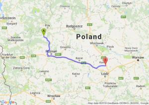 Trasa Czarnków - Piątek