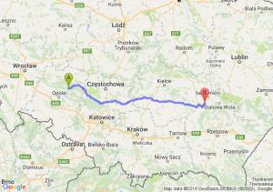 Trasa Bierdzany - Tarnobrzeg