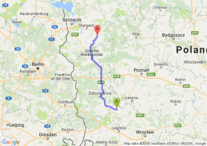 Głogów (dolnośląskie) - Choszczno (zachodniopomorskie)