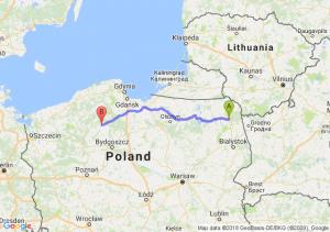 Trasa Augustów - Chojnice