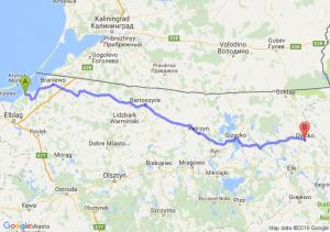 Tolkmicko (warmińsko-mazurskie) - Olecko (warmińsko-mazurskie)