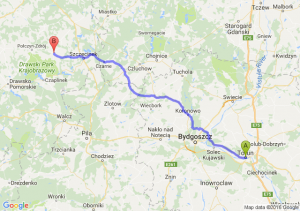 Toruń (kujawsko-pomorskie) - Barwice (zachodniopomorskie)