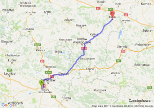 Trasa Biskupice Podgórne - Turek