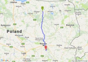 Trasa Biskupiec - Góra Kalwaria