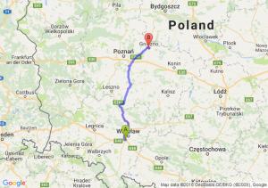 Trasa Bielany Wrocławskie - Gniezno