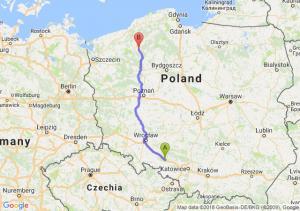 Trasa Dąbrówka Górna - Szczecinek