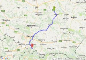 Trasa Białobrzegi - Pietrzykowice