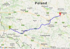 Bolesławiec (dolnośląskie) - Grodzisk Mazowiecki (mazowieckie)