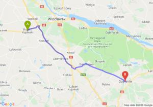 Trasa Brześć Kujawski - Gostynin