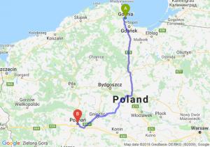 Trasa Gdynia - Poznań