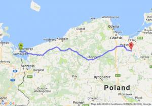 Świnoujście (zachodniopomorskie) - Dzierzgoń (pomorskie)