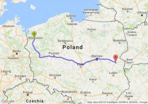 Trasa Stargard Szczeciński - Międzyrzec Podlaski
