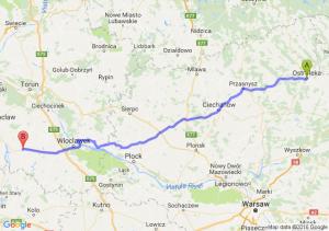 Ostrołęka (mazowieckie) - Radziejów (kujawsko-pomorskie)