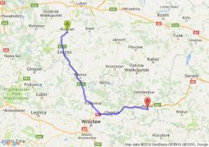 Kościan (wielkopolskie) - Kępno (wielkopolskie)