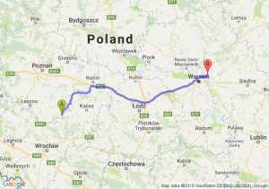 Krotoszyn (wielkopolskie) - Wołomin (mazowieckie)