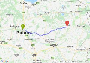 Trasa Toruń - Łomża