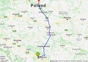 Trasa Gliwice - Lubicz Dolny