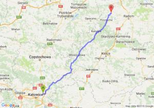 Trasa Dąbrowa Górnicza - Potworów