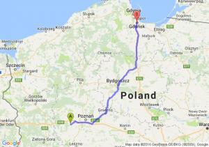 Opalenica (wielkopolskie) - Gdańsk (pomorskie)
