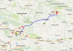Łaziska Górne (śląskie) - Daleszyce (świętokrzyskie)
