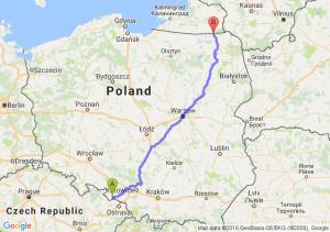 Kietrz (opolskie) - Gołdap (warmińsko-mazurskie)