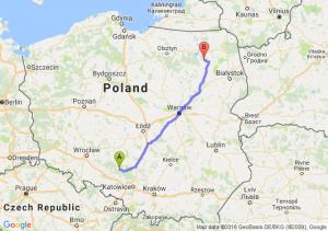 Dobrodzień (opolskie) - Biała Piska (warmińsko-mazurskie)
