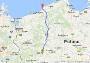 Opalenica (wielkopolskie) - Darłowo (zachodniopomorskie)
