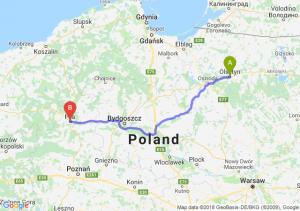 Trasa Olsztyn - Piła