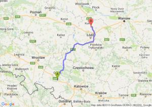 Trasa Dąbrówka Górna - Piątek