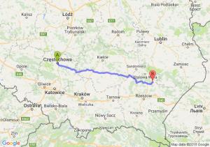 Trasa Częstochowa - Kopki