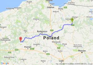 Olsztynek (warmińsko-mazurskie) - Wronki (wielkopolskie)