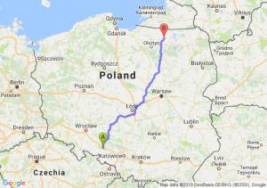 Trasa Dąbrówka Górna - Reszel