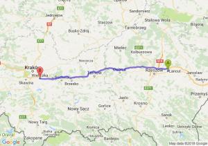 Trasa Łańcut - Wieliczka