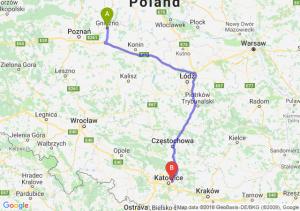 Trasa Gniezno - Sosnowiec