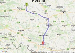 Gniezno - Sosnowiec