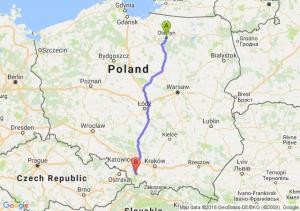 Olsztyn (warmińsko-mazurskie) - Bielsko-Biała (śląskie)