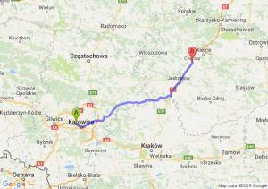Trasa Chorzów - Chęciny