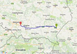 Trasa Jarosław - Chrzanów