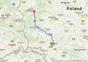 Trasa Biskupice Podgórne - Skwierzyna