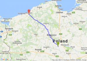 Radziejów (kujawsko-pomorskie) - Koszalin (zachodniopomorskie)