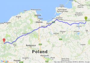 Gołdap (warmińsko-mazurskie) - Kalisz Pomorski (zachodniopomorskie)