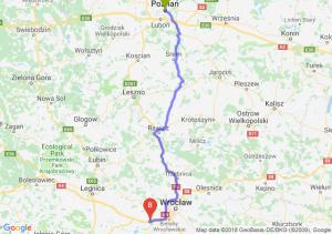 Trasa Poznań - Kąty Wrocławskie