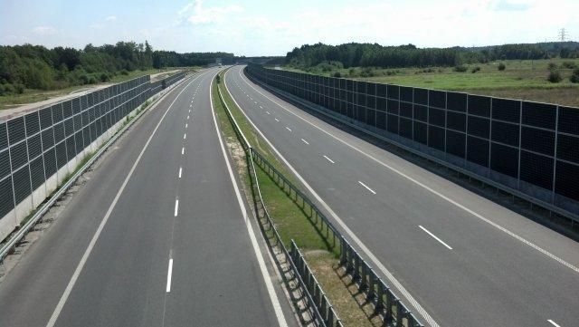 Autostrada A4 w okolicy Tarnowa
