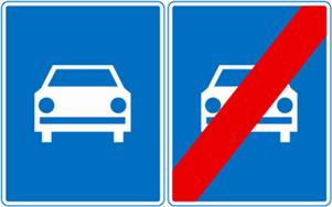 Droga ekspresowa (D7) i odwołanie dorgi ekspresowej (D8)